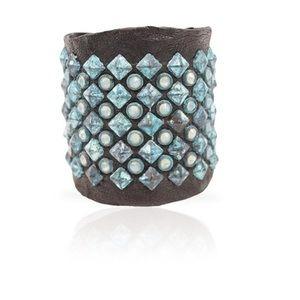 Anat Marin Adel Cuff Swarovski Crystals Turquoise